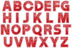 Digital Alphabet Glitter Marquee Style Scrapbooking Element Royalty Free Stock Image