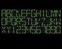 Digital-Alphabet-Grün Lizenzfreie Stockfotografie