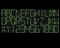 Digital Alphabet Green Royalty Free Stock Photography