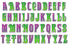 Digital Alphabet Jester Style Scrapbooking Element Stock Photography