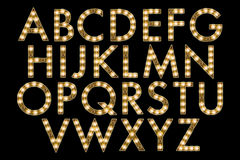 Digital Alphabet Marquee Style Scrapbooking Element Stock Photos
