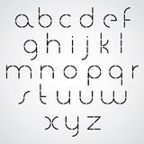 Digital alphabet, modern style vector font. Stock Image
