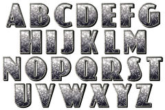 Digital Alphabet 30s Capone Style Scrapbooking Element Stock Image