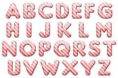 Digital-Alphabet-Süßigkeit Cane Style Scrapbooking Element Stockfotografie