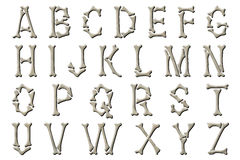 Digital Alphabet Skeleton Bones Style Scrapbooking Element Royalty Free Stock Images