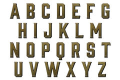 Digital Alphabet Steampunk Style Scrapbooking Element Royalty Free Stock Photos