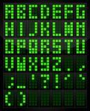 Digital alphabet table. Vector digital alphabet and symbol Royalty Free Stock Photos