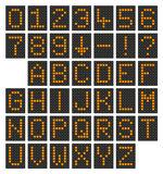Digital-Alphabet u. -zahlen Lizenzfreies Stockbild