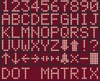 Digital-Alphabet und -zahlen für Aufzugsanzeige Stockfotografie