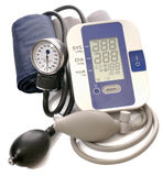 Digital and analog health control tools Stock Photo