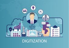Digital-Analog-Wandlung Konzept als Geschäftsvektorillustration vektor abbildung