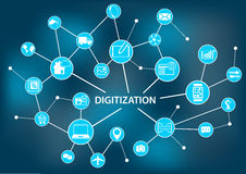 Digital-Analog-Wandlung Konzept als Illustration lizenzfreie abbildung