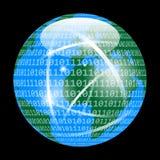 Digital-Analog-Wandlung von Planeten-Erde stock abbildung