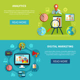 Digital Analytics Banners Set Royalty Free Stock Images