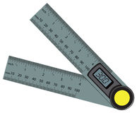 Digital Angle Finder Rule Royalty Free Stock Photo