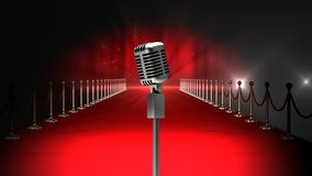 Microphone on red carpet Video