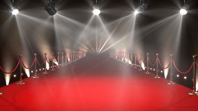 Red Carpet with Lights Video