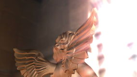 Digital Animation of an Angel stock footage