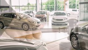 Digital animation of cars kept in display at showroom