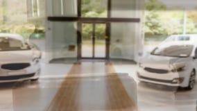 Digital animation of cars kept at showroom