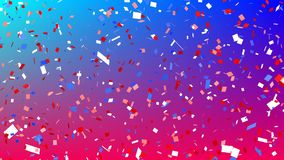 Colorful confetti. Digital animation of colorful confetti falling in the screen royalty free illustration