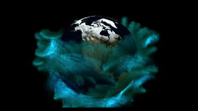 Digital Animation of the Earth stock footage