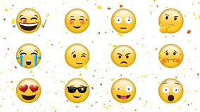 Emojis with different faces