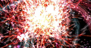 Digital Animation of a Firework stock video footage