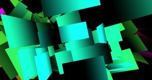 Digital Animation of floating Sheets. Digital Particle Animation of floating Sheets stock footage