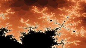 Digital animation of a fractal stock video footage