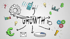 Digital animation of growth concept stock video