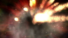 Digital  Animation of a multiple Explosion stock video