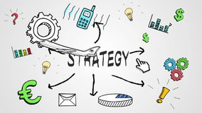 Digital animation of strategy concept stock video footage