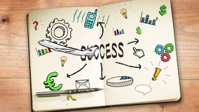 Digital animation of success concept stock footage