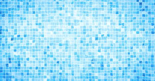 Digital animation of swimming pool bottom caustics ripple and flow with waves movement  background, loop seamless stock footage