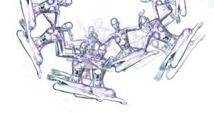 Digital animering av att meditera kvinnlig stock illustrationer