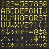 Digital-Anzeigetafel-Alphabet und Zahlen Lizenzfreie Stockfotografie