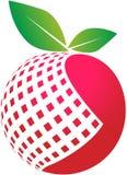 Digital apple. Vector illustration of apple globe logo Royalty Free Stock Images
