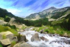 Digital-Aquarellmalerei lizenzfreie abbildung
