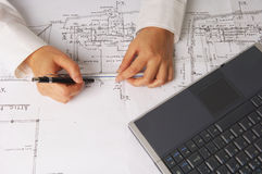 Digital architect stock images