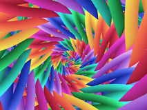 Digital Art Abstract Pastel Colored Rainbow Spiral Background. Geometric abstract pastel colored rainbow spiral background Stock Photos