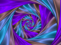 Digital Art Abstract Purple Spiral Background. Geometric abstract glossy purple fractal spiral background Stock Photo