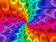 Digital Art Abstract Rainbow Spiral Background Arkivfoton