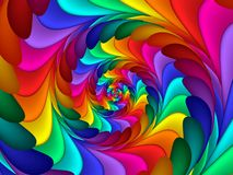Digital Art Abstract Rainbow Spiral Background Arkivfoto
