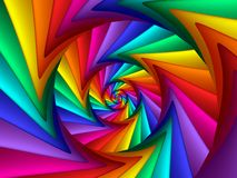 Digital Art Abstract Rainbow Spiral Background Royaltyfria Bilder
