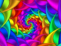 Digital Art Abstract Rainbow Spiral Background Image libre de droits