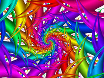 Digital Art Abstract Rainbow Spiral Background Images libres de droits