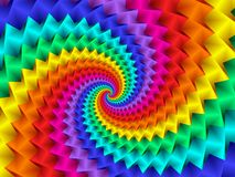 Digital Art Abstract Rainbow Spiral Background Image stock