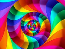 Digital Art Abstract Rainbow Spiral Background. Geometric abstract Rainbow spiral background Royalty Free Stock Images