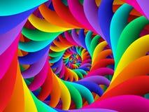 Digital Art Abstract Rainbow Spiral Background. Geometric abstract Rainbow spiral background Stock Photo